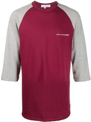 Comme des Garcons logo print colour block T-shirt