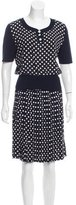Ungaro Polka Dot Pleated Skirt Set