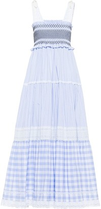 Miu Miu Embellished Gingham Check Dress