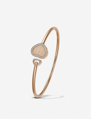 Chopard Golden Hearts 18ct rose-gold and 0.19ct white-diamond bangle