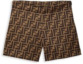 Fendi Little Girl's & Girl's Allover Logo Shorts