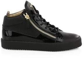Giuseppe Zanotti Leather Zip Sneakers