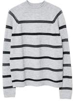 MANGO Striped panel sweater