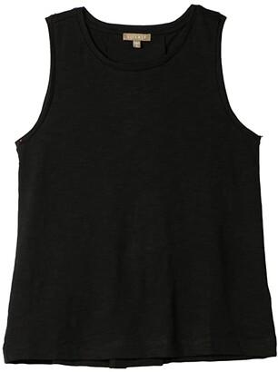 Lilla P Pleat Back Tank in Flame Modal (Black) Women's Clothing