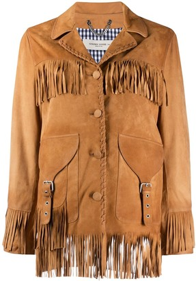Golden Goose Esperanza fringed leather jacket