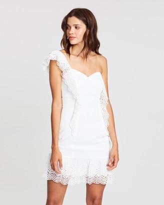 Atmos & Here Mila Ruffle Asymmetric Dress