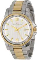 Lucien Piccard Men's 10048-SG-22S Breithorn Textured Dial Two Tone Stainless Steel Watch