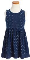 Splendid Girl's Lace Trim Dress