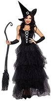 Dreamgirl Women's Spell Bound Costume, Black/Silver