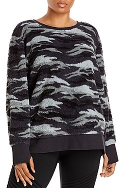 Marc New York Plus Faux Sherpa Crewneck Sweatshirt
