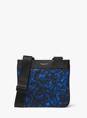 Michael Kors Kent Small Volcanic-Print Nylon Messenger Bag