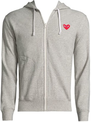Comme des Garcons Play Zip Hooded Sweater