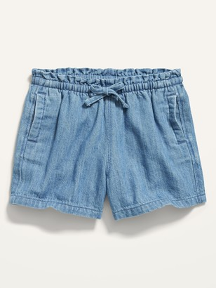 Old Navy Paperbag-Waist Chambray Shorts for Toddler Girls