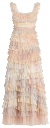 Needle & Thread Petra Sleeveless Ruffle Gown