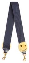 Anya Hindmarch Smiley mink pompom bag strap