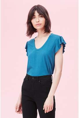 Rebecca Taylor La Vie Washed Textured Jersey Tee