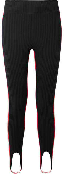 52c34e41379bd5 Red And Black Striped Leggings - ShopStyle