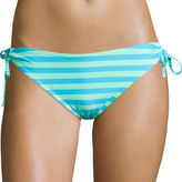 Arizona Striped Keyhole Hipster Swim Bottoms - Juniors