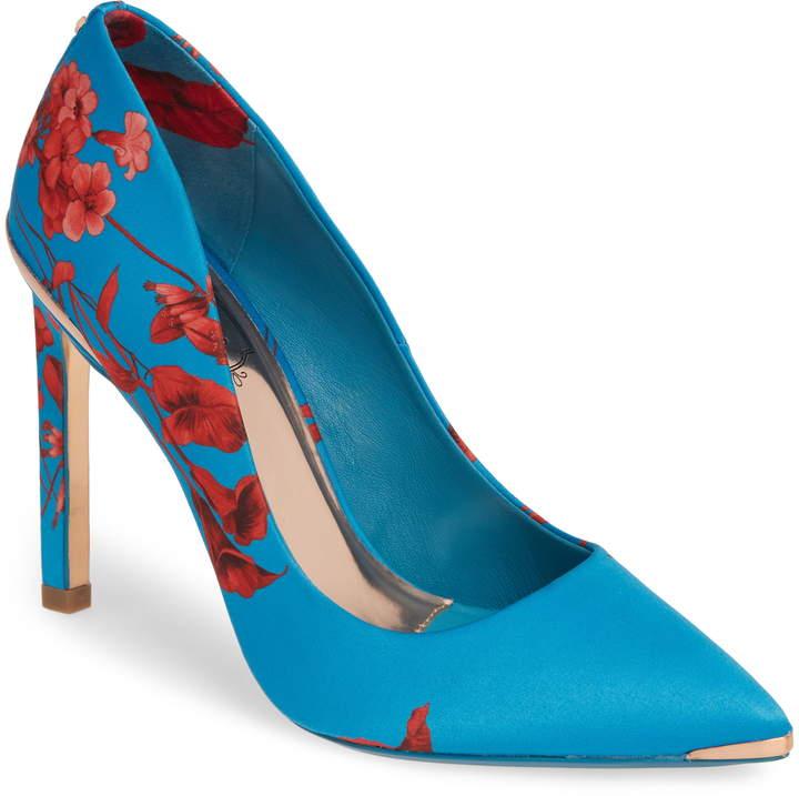 326edae04894 Floral Satin Pumps - ShopStyle
