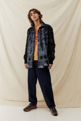 BDG Grey Tie-Dye Jumbo Corduroy Shirt - Black S at Urban Outfitters