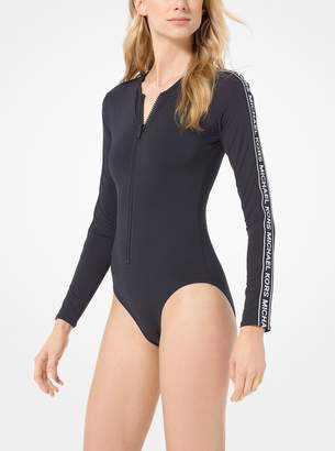 MICHAEL Michael Kors Logo Tape Surf Swimsuit
