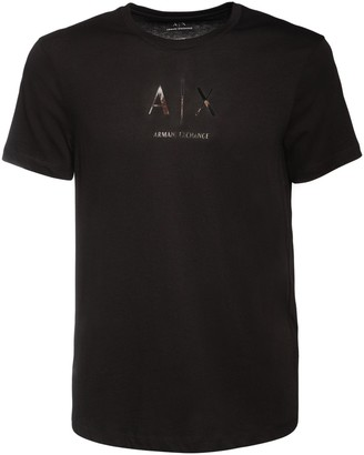 Armani Exchange Printed Logo Cotton Jersey T-Shirt