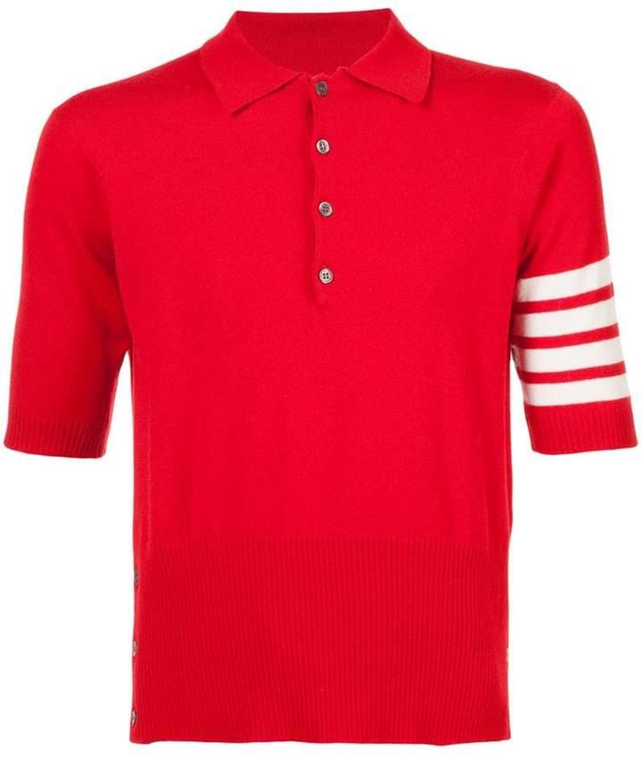 Thom Browne cashmere short sleeve polo shirt