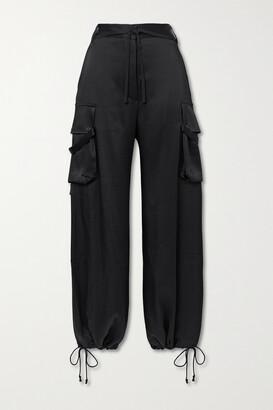 Ann Demeulemeester Satin Wide-leg Pants - Black