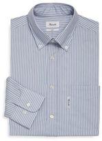 Façonnable Stripe Buttoned Cotton Dress Shirt