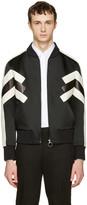 Neil Barrett Black Panelled Modernist Bomber Jacket