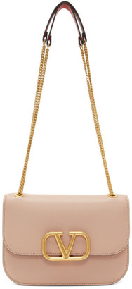 Valentino Pink Garavani Small VLock Shoulder Bag
