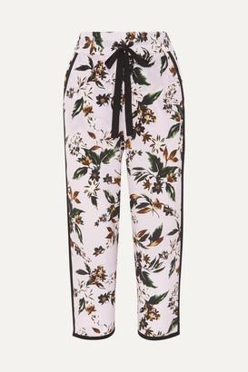 Diane von Furstenberg - Lulu Floral-print Silk-crepe Pants - Lilac