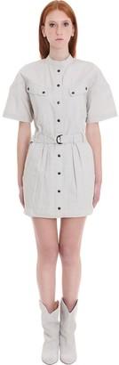 Etoile Isabel Marant Zolina Dress In Beige Cotton