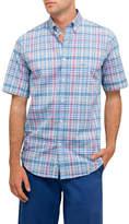 Paul & Shark S/S Bd Multi Check W/Pocket Shirt