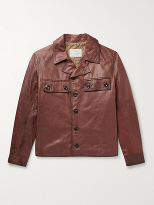 Kingsman Burnished-Leather Jacket
