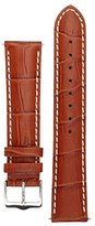 Signature Montana watch band. Replacement watch strap. Genuine Leather. Silver buckle