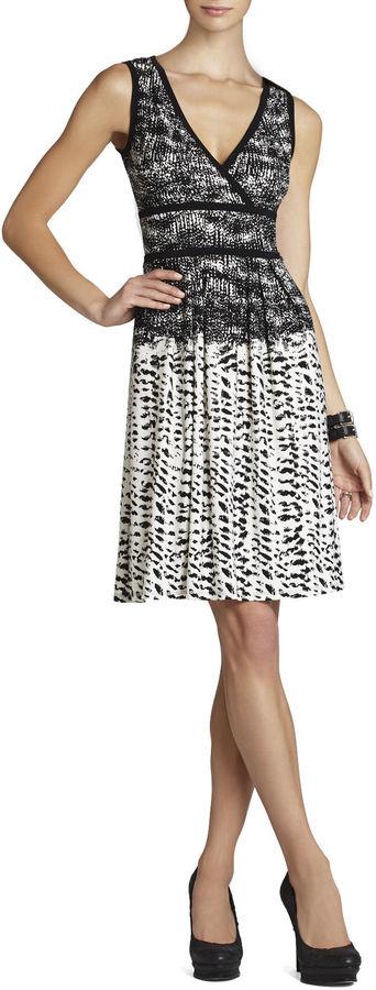 BCBGMAXAZRIA Kerra Printed Top-Wrap Dress