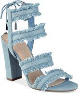 GUESS Women's Evira Strappy Block-Heel Dress Sandals