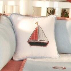 Brandee Danielle Sail Away Boat Cotton Decorator Throw Pillow