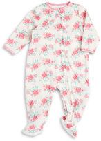 Little Me Floral Footie Pajamas
