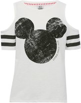M&Co Disney Mickey Mouse cold shoulder top