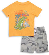 Kids Headquarters Baby Boys Blast From the Past Tee and Shorts Set
