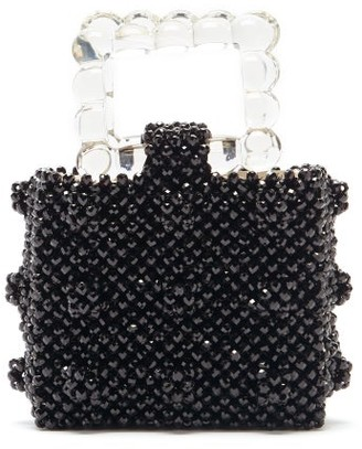 Shrimps Maud Squared Top-handle Beaded Handbag - Black