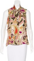 Pamella Roland Silk Printed Top