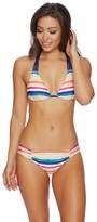 Splendid Watercolor Horizon Knot Halter Bikini Top