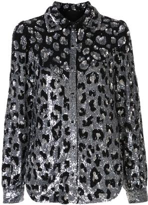 retrofete glitter leopard shirt