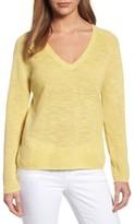 Eileen Fisher Women's V-Neck Organic Linen & Cotton Sweater