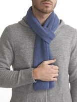 White + Warren Mens Cashmere Thermal Scarf