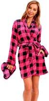 Body Candy Loungewear Body Candy Women's Soft Plush Micro Fleece Robe with Slippers