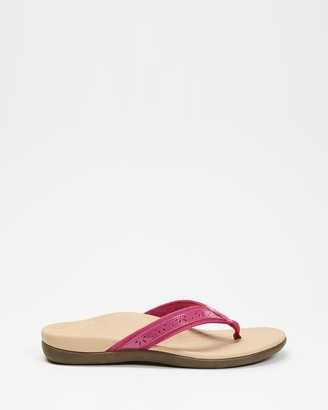 Vionic Women's Pink All thongs - Casandra Toe Post Sandals - Size One Size, 6 at The Iconic